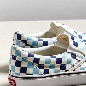 Vans Shoes - Vans-CHECKERBOARD-SLIP-ON-BLUE-TOPAZ-BLUE 4fab0bdb2